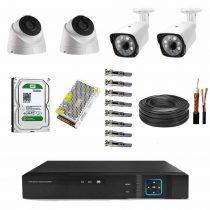 پک 4تایی 210x210 - پکیج آماده نصب 4 دوربین مداربسته AHD با کیفیت 2مگاپیکسل/فوق حرفه ایSUPER PRO/4/SONY