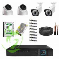 پک 4تایی1500 210x210 - پکیج آماده نصب 4 دوربین مداربسته AHD با کیفیت1.3مگاپیکسل/اقتصادیVECO/4